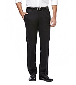 Haggar Premium No Iron Khaki Stretch Straight Fit Flat Front Pant