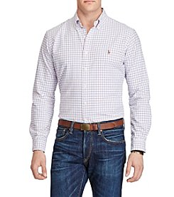 Polo Ralph Lauren® Men's Big & Tall Plaid Cotton Oxford Shirt