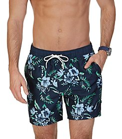Nautica® Men's Quick Dry Tropical Print Swim Trunks
