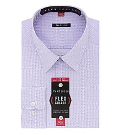 Van Heusen Men's Flex Collar Stretch Slim Fit Point Collar Printed Dress Shirt