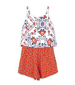 Amy Byer Girls' 7-16 Popover Romper