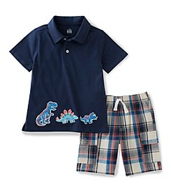 Kids Headquarters® Boys' 2T-7 2-Piece Nautical Polo Set