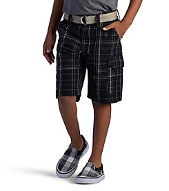 Lee® Boys' 4-7 Plaid Cargo Shorts