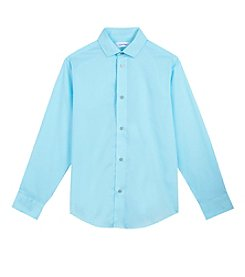 Calvin Klein Boys' 4-20 Sateen Shirt
