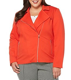 Rafaella® Plus Size Zip Front Jacket
