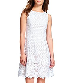Adrianna Papell Fit and Flare Lace Dress