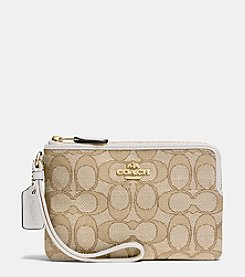 COACH BOXED SMALL WRISTLET IN SIGNATURE JACQUARD