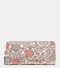 COACH SLIM ACCORDION ZIP WALLET IN YANKEE FLORAL PRINT CANVAS