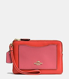 COACH BOXED SMALL WRISTLET IN COLORBLOCK LEATHER