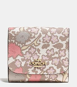 COACH SMALL WALLET IN YANKEE FLORAL PRINT CANVAS