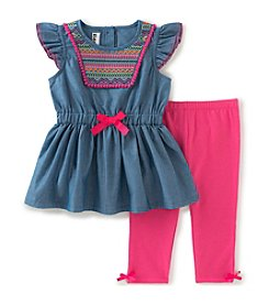Kids Headquarters Girls' 2T-6X 2-Piece Tunic and Capri Set