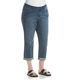 Earl Jean® Plus Size Floral Embroidered Jeans
