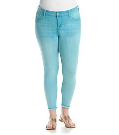 Celebrity Pink Plus Size Frayed Hem Ankle Skinny Jeans