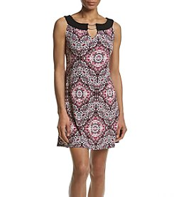 Studio Works® Petites' Keyhole Neckline Printed Dress