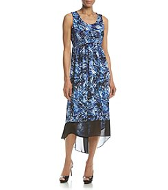 Studio Works® Petites' Printed High Low Dress