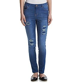 Hippie Laundry Roll Cuff Patched Ankle Jeans