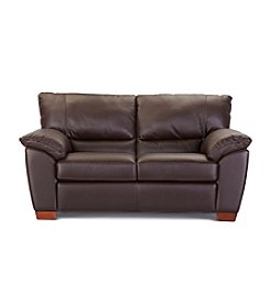 Natuzzi Editions® Trento Brown Leather Loveseat