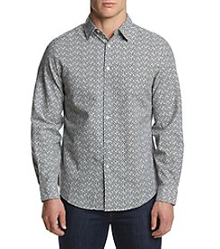 Perry Ellis Men's Mini Floral Print Oxford Shirt