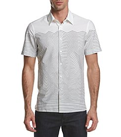 Perry Ellis® Men's Short Sleeve Slim Fit Topgraphy Shirt