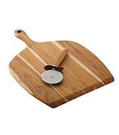 Anolon® Pantryware Teakwood 2-Piece Pizza Peel and Pizza Cutter Set