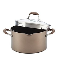 Anolon® Advanced™ Hard-Anodized Nonstick Covered Stockpot with Locking Straining Lid