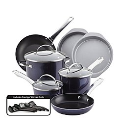 Farberware® Luminescence™ Aluminum Nonstick 16-Piece Sapphire Shimmer Cookware Set