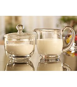 Qualia Glass Sugar & Creamer Set