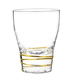 Qualia Helix Gold Set of 4 Double Old Fashioned Glasses