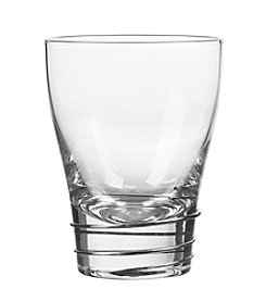 Qualia Helix Platinum Set of 4 Double Old Fashioned Glasses