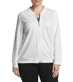 Alfred Dunner® Plus Size Bahama Mesh Jacket