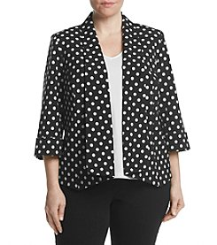 Kasper® Plus Size Dot Print Jacket