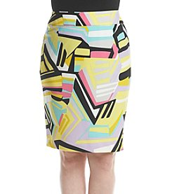Nine West® Plus Size Printed Slim Skirt