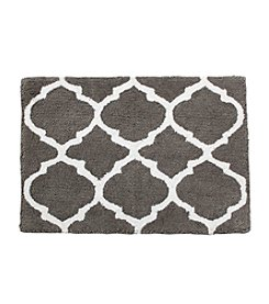LivingQuarters Cotton Trellis Pattern Bath Rug