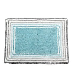 LivingQuarters Cotton Race Pattern Bath Rug