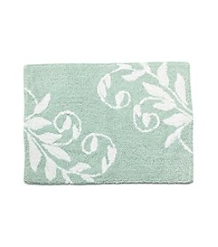 LivingQuarters Cotton Floral Pattern Bath Rug