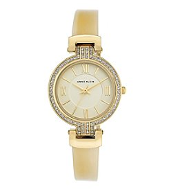 Anne Klein® Horn Bangle Watch