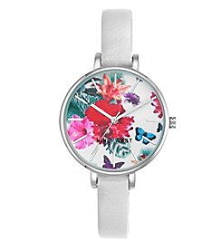 Nine West® Floral Display Strap Watch
