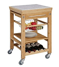 Linon Home Decor Products, Inc. Granite Top Kitchen Cart