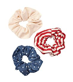 Fantasia Accessories 3-Pack Printed Scrunchies