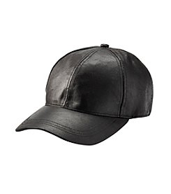 August Hats Leather Baseball Hat