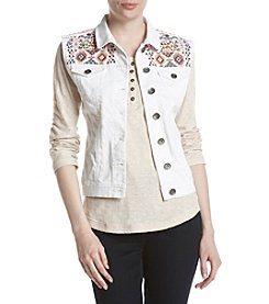 Ruff Hewn Embroidered Denim Vest