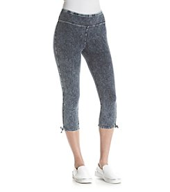 Marc New York Performance Side Tie Denim Crop Pants