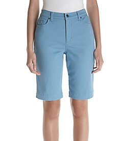 Gloria Vanderbilt® Amanda Embroidered Bermuda Shorts