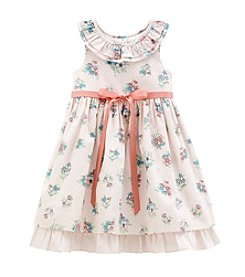 Laura Ashley® Girls' 2T-6X Floral Print Dress