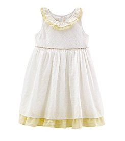 Laura Ashley® Girls' 2T-6X Eyelet Seersucker Dress