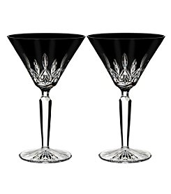 Waterford® Lismore Black Set of 2 Crystal Martini Glasses