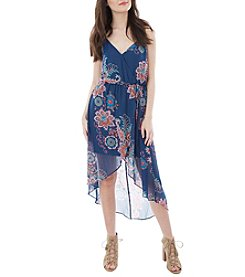 A. Byer Floral High-Low Maxi Dress