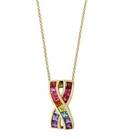 Effy® 14k Yellow Gold Mixed Gem Pendant