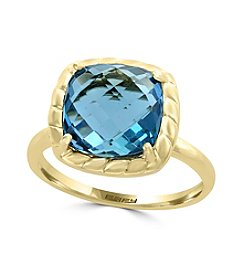 Effy® 14K Yellow Gold London Blue Topaz Ring