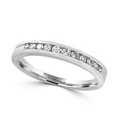 Effy® 14K White Gold .24 ct. t.w. Diamond Ring